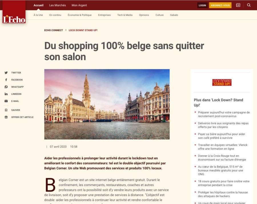 Lock down ? Stand up! - Belgian Corner