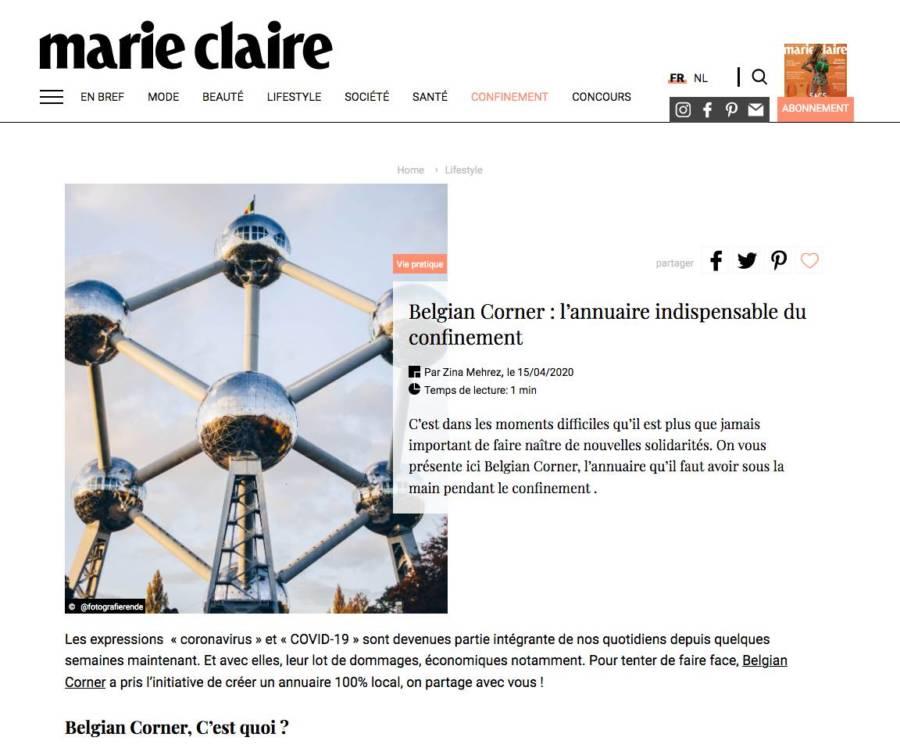 Marie-Claire - Belgian Corner